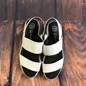 Jeffry Campbell size 19 white sandals the Adler